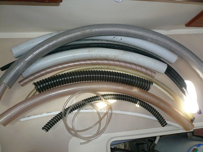 Spare hoses for plumbing use and chafe protection