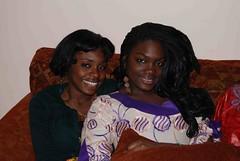 Zara & Mariatu (Ibrahim D Photography) Tags: girls party black smile smiling nikon women pretty african sierraleone salone ebony twop d60 nikond60