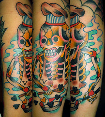 cocinero vegan es amor (piranhart) Tags: tattoo vegan piranha calavera welldonetattoos xpiranhax