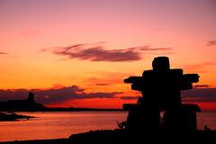 Sunset by Innukshuk