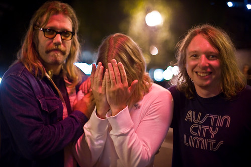 John Roderick and Eric Corson of the Long Winters with Justin from Menomena at MusicFestNW 2009