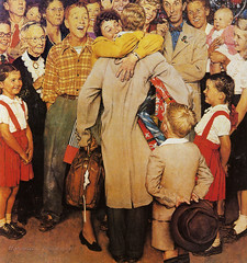 Homecoming -Post cover Dec 25,1948--by Norman Rockwell (x-ray delta one) Tags: life christmas portrait history 1948 illustration painting post propaganda patriotic nostalgia homecoming americana 20thcentury normanrockwell magazinecover magazineillustration