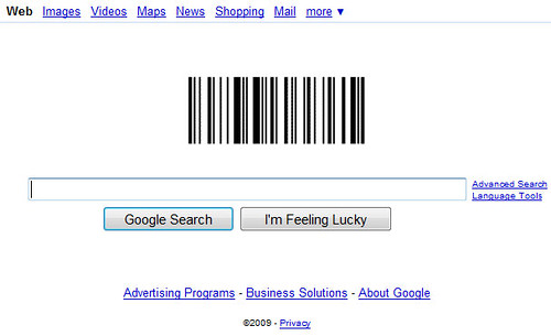 google barcode logo. The Google logo today celebrates the 57th anniversary of the arcode.