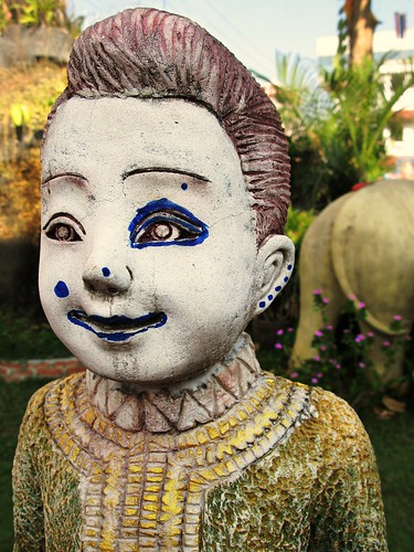 The very strange Wat Buppararm - Chiang Mai, Thailand