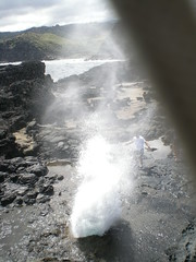 Water coming out of the Nakalele Blowhole (GregCypes) Tags: hawaii blowhole nakalele