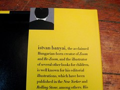Backwards Author on Flap for THE OTHER SIDE by Istvan Banyai