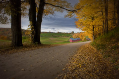 Jenne Farm Rd Autumn (Photography by Steven Frudak) Tags: road fall leaves sunrise nikon vermont farm foliage woodstock jennefarm topshots mywinners abigfave platinumphoto anawesomeshot stevenfrudak