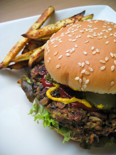 Veganomicon Black Bean Burger