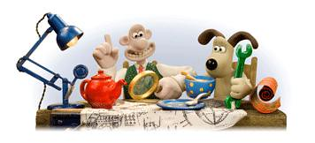 Google logos wallace and grommit