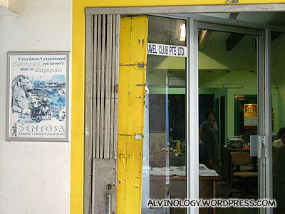 Tour agency with original retro office