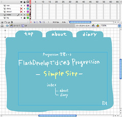 SimpleSite - FlashDevelopではじめるProgression