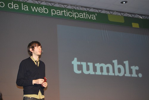 David Karp, creador de Tumblr, en el EBE09
