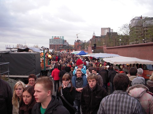 By 9, the market was actually pretty crowded with sober people.