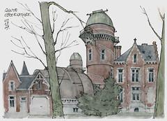 Liège, Observatoire (gerard michel) Tags: architecture watercolor sketch belgium aquarelle liège croquis néogothique noppius