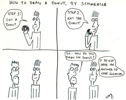 366 Cartoons - 304 - How to Draw a Donut