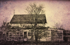 Abandonded House Texture (Micheal  Peterson) Tags: house tree texture abandoned rural photoshop vintage buildings landscapes junk scenery nebraska ne haunted spooky oneill mikepeterson ruralphotos