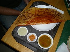 Special welcome dosa for us