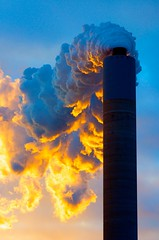 Stack at Sunrise (IRainyDays) Tags: sunrise stack smokestack powerplant exhaust plume