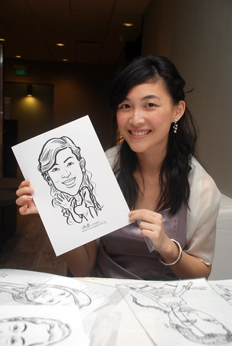 Caricature live sketching for Lonza - 16