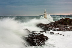 Ahtopol lighthouse (Evgeni Dinev) Tags: sea lighthouse rocks waves bulgaria beacon    strandzha ahtopol