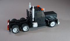 Western Star Semi (Ricecracker.) Tags: tractor truck star lego fig mini semi figure western wheeler trailer minifig 18 eighteen 18wheeler minifigure moc minifigscale