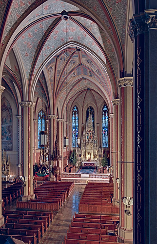 Saint Francis de Sales Oratory, in Saint Louis, Missouri, USA - view from choir loft