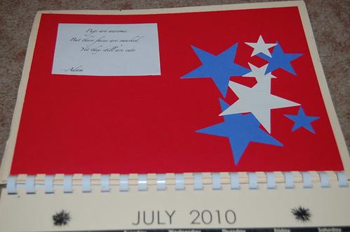 Adam's calendar gift - July