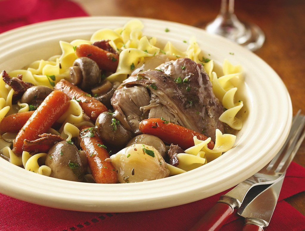 Slow Cooker Chicken in Red Wine Recipe