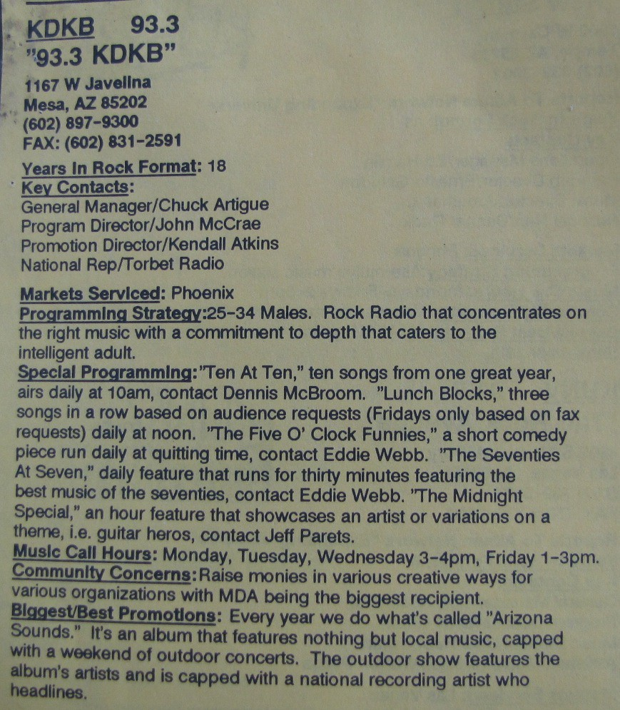 933 KDKB Zep2013 Tags Kdkb 933kdkb Phoenixarizonaradiostation
