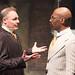 BoHo Theatre - Urinetown - Peter Robell (Senator Fipp) and Donterrio Johnson (Cladwell)
