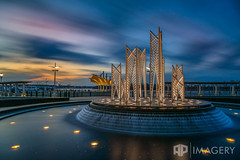Smothers Park - Fountain 2017 (AP Imagery) Tags: lee longexposure batwing owensboro sunset fountain canopy water lte pavilion smotherspark filter kentucky ky downtown usa