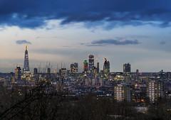 Blue Sky London (JH Images.co.uk) Tags: london honor oak park cloud shard dri hdr night clouds city skyline cityscape gherkin leadenhall walkietalkie