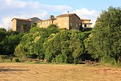 Soleil couchant sur Générargues (Gard, Cévennes)