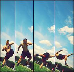 Follow the Twist (kqli) Tags: sky jump kick move parc serie saut javel tricking trickz vrille