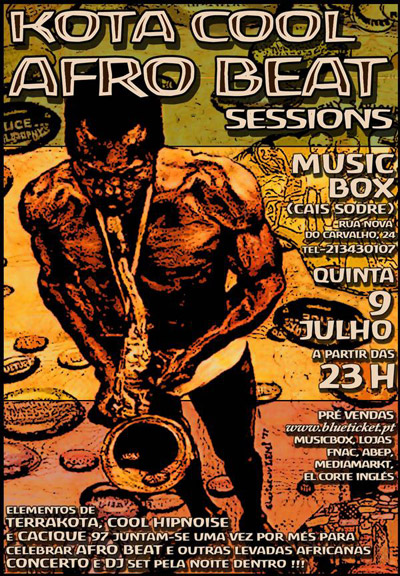Kota Cool Afro Beat Sessions - Flyer 09-07-09