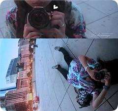 Canon Lover. (ShanLuPhoto) Tags: camera city selfportrait chicago japan america canon asian illinois nikon downtown chinese millenniumpark liedown self portrait big looloo bean gatetothecloud loolooimage