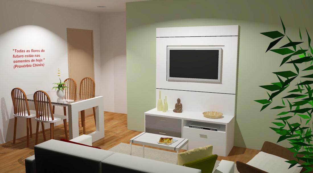 Decoracao De Interiores Sala De Tv ~  de até 75 m² cheios de # decoracao de interiores sala de tv