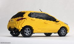 Mazda2 (Sean Kenney) Tags: sculpture car yellow model lego sean legos mazda hatchback kenney mazda2 seankenney