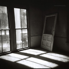 Standing In The Shadows by evanleavitt - Nolan House  Bostwick, GA Morgan County Holga 120N Ilford HP5 Plus 400 View On Black