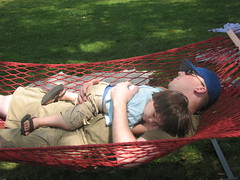 Hanging at a hammock in the picnic area