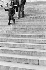 * (clickykbd) Tags: travel family boy people bw italy rome roma film stairs canon mono walk delta tourists 400 clickykbd a1 manual ilford lazio 2007 monumentoalapatria sopahide