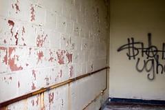 peeling and graffiti (bluishorange) Tags: newyork abandoned longisland kingspark kingsparkpsychiatriccenter psychiatricccenter