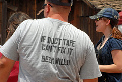 FIX ALL (ONE/MILLION) Tags: travel arizona people beer field fix duct gold town apache funny mine flickr message fb hats tags visit junction mining tape shirts ducttape tshirts tours find facebook goldfield onemillion williestark goldfieldcowboys