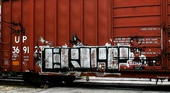 erot (mightyquinninwky) Tags: up geotagged graffiti crossing tag graf tracks indiana tags tagged railcar rails unionpacific boxcar graff graphiti railroadcrossing traindepot trainart paintedtrain railart erot taggedtrain boxcarart evansvilleindiana taggedboxcar paintedboxcar paintedrailcar geo:lon=87627372 geo:lat=37943478 taggedrailcar
