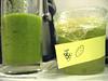 centrifuga di frutta con etichetta