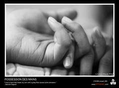 219 - Possession des Mains (erickespinosa) Tags: bw love project one photo hands focus day bokeh fingers nails quotes holdinghands 365 hold p365