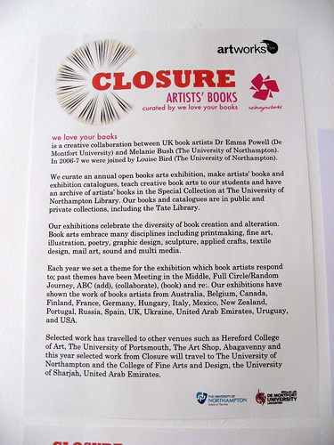 "* closure info • <a style=""font-size:0.8em;"" href=""http://www.flickr.com/photos/61714195@N00/3835632731/"" target=""_blank"">View on Flickr</a>"