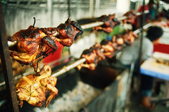 Roasted on First Ramadhan 2008 (36890032) (Fadzly @ Shutterhack) Tags: chicken film analog malaysia grilled ramadhan terengganu roasted goldenbrown kualaterengganu kodak100 my leicar6 fadzlymubin shutterhack leitzwetzlar summicronr35mmf20 fastingmonthformoslems