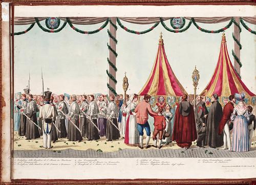 019 Solenne processione vaticana del Corpus Domini diretta da uno de cerimonieri di Sua Santita` Gregorio XVI 1839