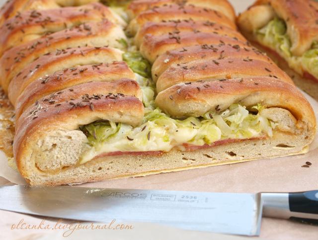 Rustic Reuben Bread